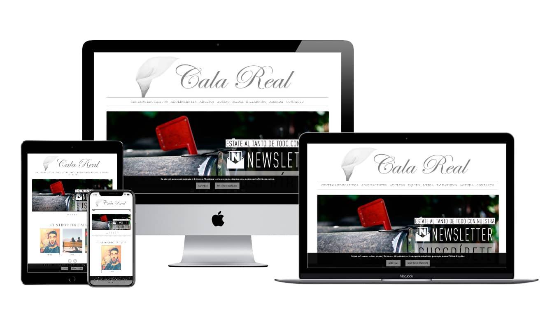 Muestra diseño adaptativo de la web de Cala Real